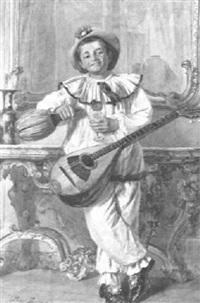 mandolin player by enrico piazza