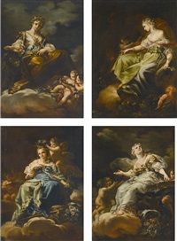 allegories of peace, civic virtue, liberty and magnanimity (set of 4) by corrado giaquinto