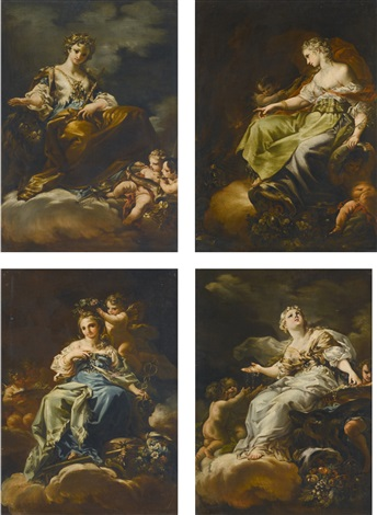 allegories of peace civic virtue liberty and magnanimity set of 4 by corrado giaquinto