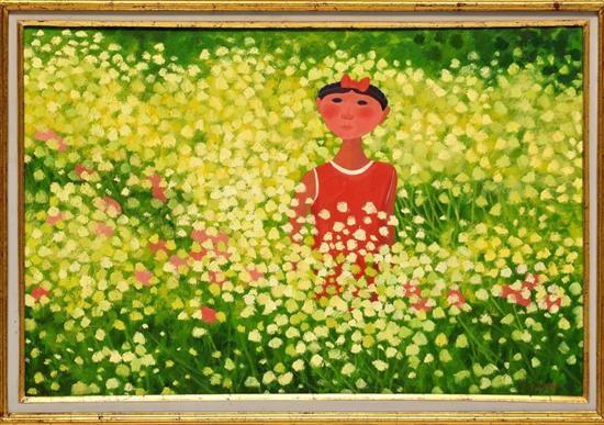 22c2bf1b0 Sin título Mujer en jardín by Trinidad Osorio on artnet