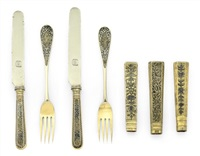 dessert knives and forks (6 works) by wasilij semenov
