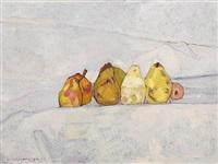still life with pears by alexey krasnovsky