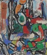 untitled (to michel tapié) by hans hofmann