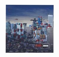 plug-in city, houston evening by alain bublex