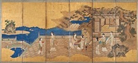 chinese beauties (on 6 panel screen) by japanese school-kano (18)