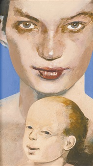 madonna of venice beach (after bouts the virgin and child) by peter blake