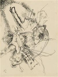 zeichnung zu radierung ii by wassily kandinsky