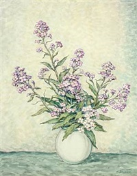 still-life with flowers in a vase by heinrich blunck-heikendorf
