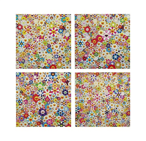 if i could reach that field of flowers i would die happy and other prints 4 works by takashi murakami