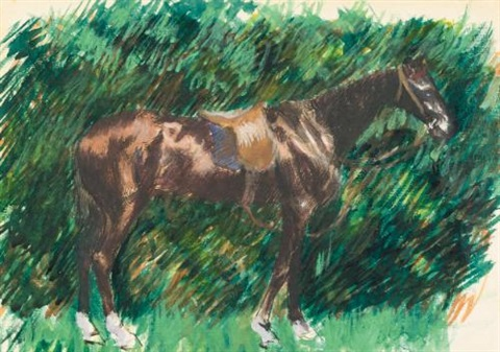 un cheval by pierre auguste renoir