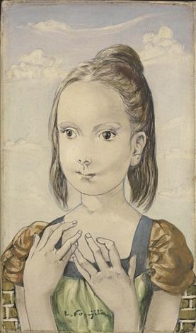 jeune fille by léonard tsuguharu foujita