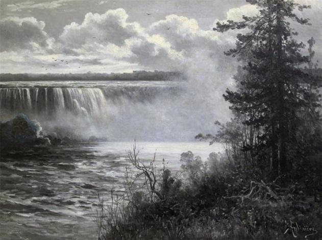 niagara falls by constant auguste de l aubiniere