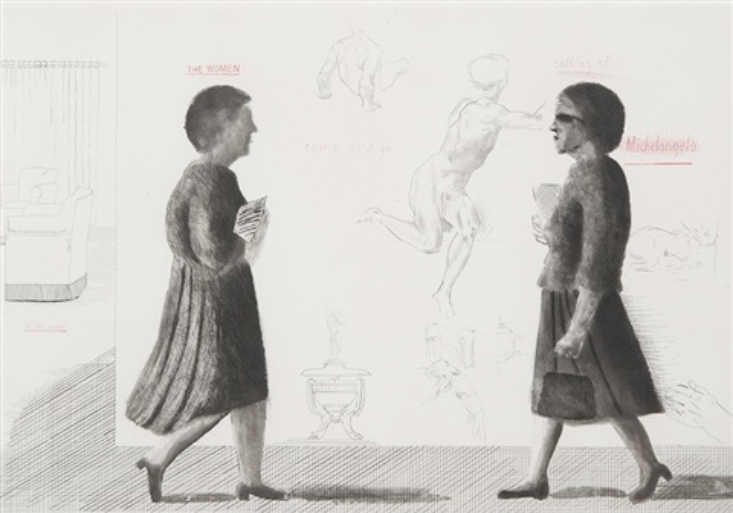 hommage to michelangelo by david hockney