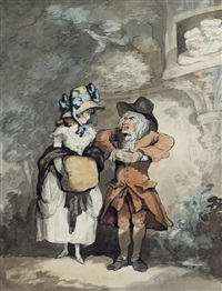the odd couple by thomas rowlandson