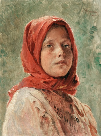 peasant girl by konstantin egorovich makovsky