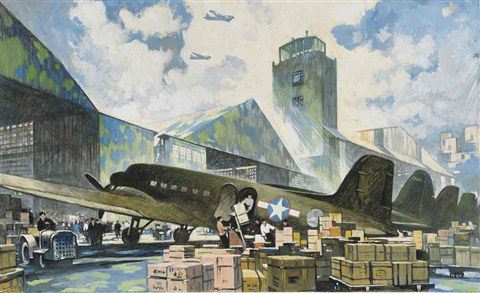 men loading freight by thornton oakley