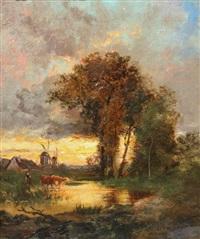 paysage au crépuscule by jules dupré