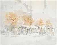 autumn in gouda (+ 2 others; 3 works) by bernard philip batchelor