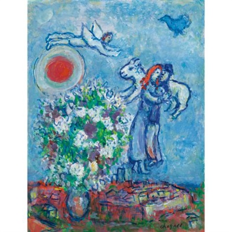 au dessus de saint paul by marc chagall