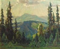 wald- und berglandschaft by marie von baselli