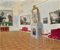 barockes schloss- oder palaisinterieur by jakob koganowsky
