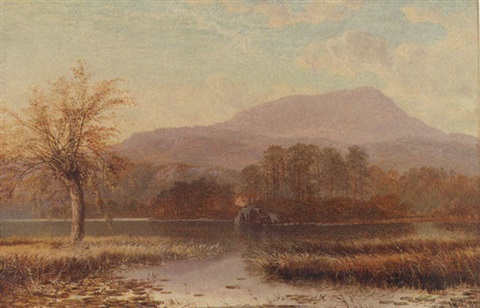 sunrise at the inlet of river brathay lake windermere by charles pettitt