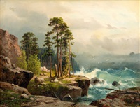 stormy seas by aleksandr vasil'evich gine
