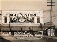 eagle's store, selma, alabama, and window, mystic, connecticut (2 works) by walker evans