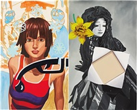 snowflake (diptych) by david salle