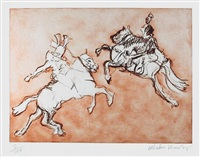 two horseman by malcolm morley