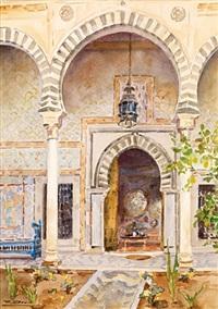 intérieur d'un palais oriental by ferdinand elie david