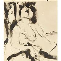 seated female figure (portrait of marie menken) by grace hartigan