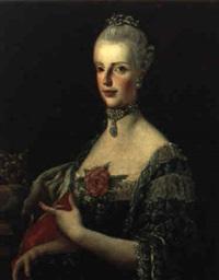 ritratto di maria carolina di borbone, regina di napoli, con la corona by francesco liani