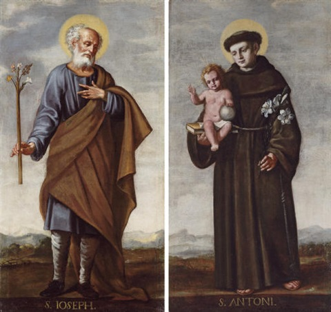 saint joseph saint anthony of padua pair by valencia