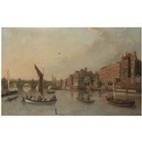 a view of old westminster bridge by samuel scott