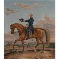 portrait of general william t. sherman on his horse by augustus kollner