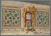proyecto de decoración para el salón de besamanos de la reina maría luisa en el palacio real de madrid by jean démosthène dugourc