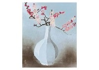red and white plum in the vase by yuki ogura