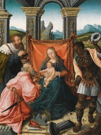 the adoration of the magi by bernaert (barend) van orley