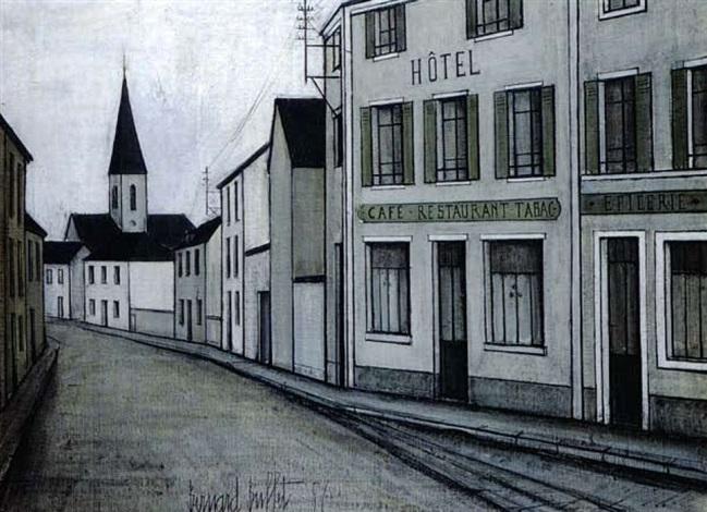 scene de rue by bernard buffet