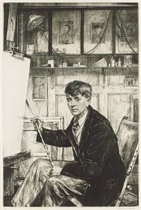 portrait of charles cundall by francis h. dodd