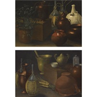 a still life (various sizes; pair) by rodolfo lodi