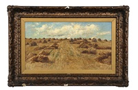 landscape with hay by thomas corwin lindsay