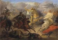 tod des herzogs luidpolt von bayern in der schlacht bei preßburg by wilhelm lindenschmit the elder