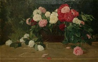 basket of roses by l. albrecht