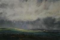untitled (stormy landscape over preseli) by aled prichard-jones