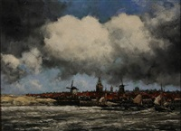 view of rotterdam by hermanus koekkoek the younger