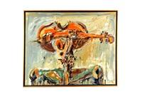 personaje con cabeza de violín by jazzamoart