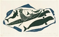 hunting whales by kayak by joe talirunili