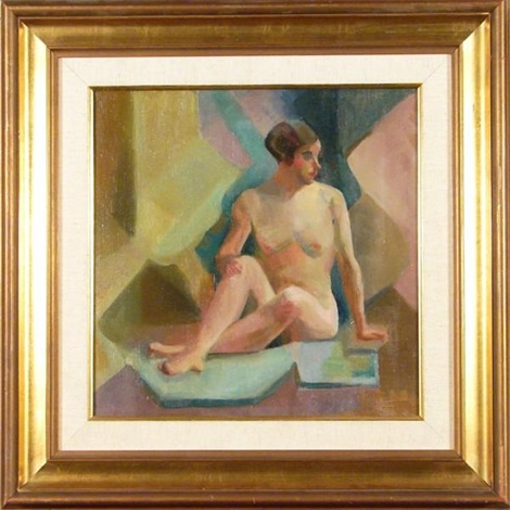 seated nude facing right by george benjamin luks